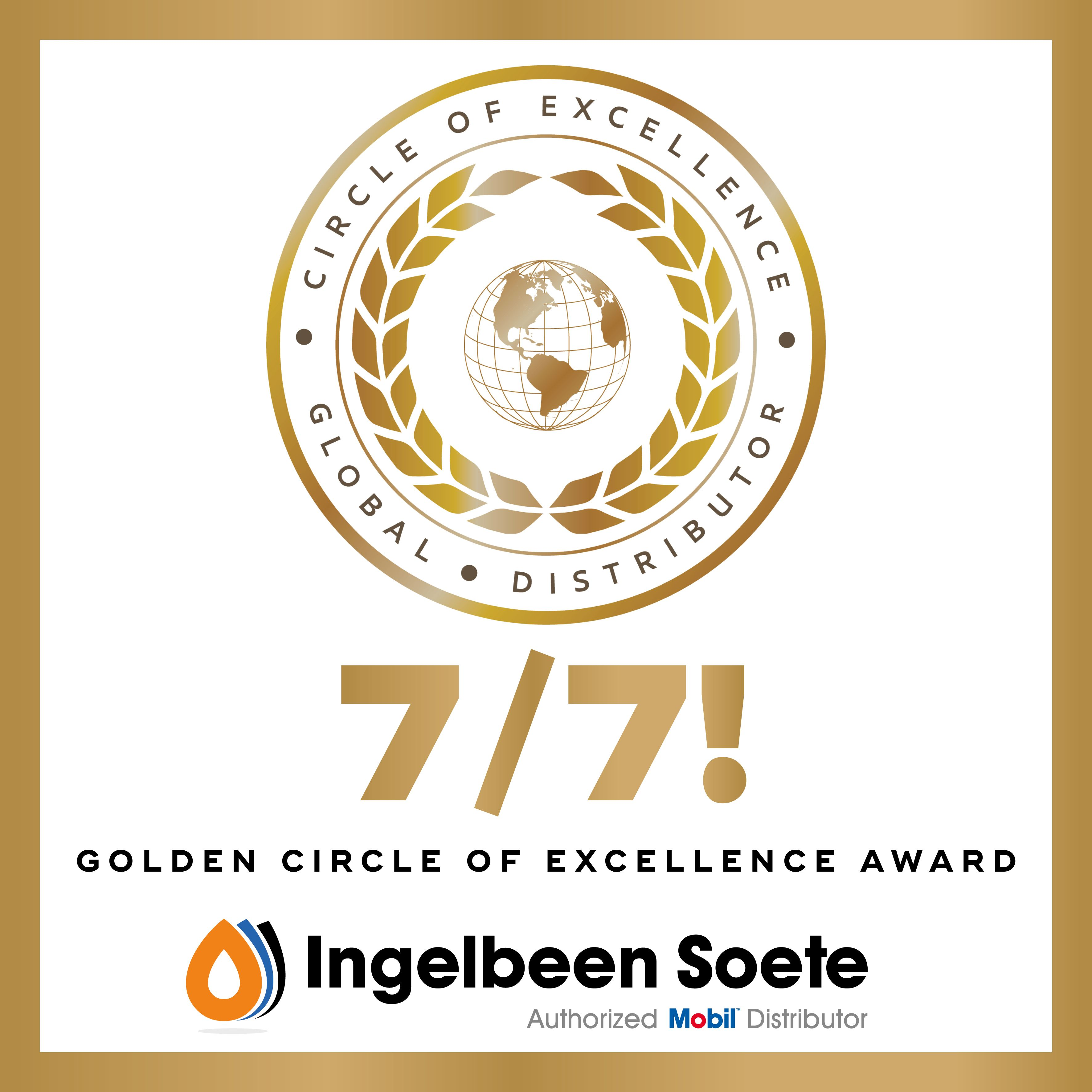 Seven out of seven with our 7th Golden ExxonMobil Circle of Excellence Award!