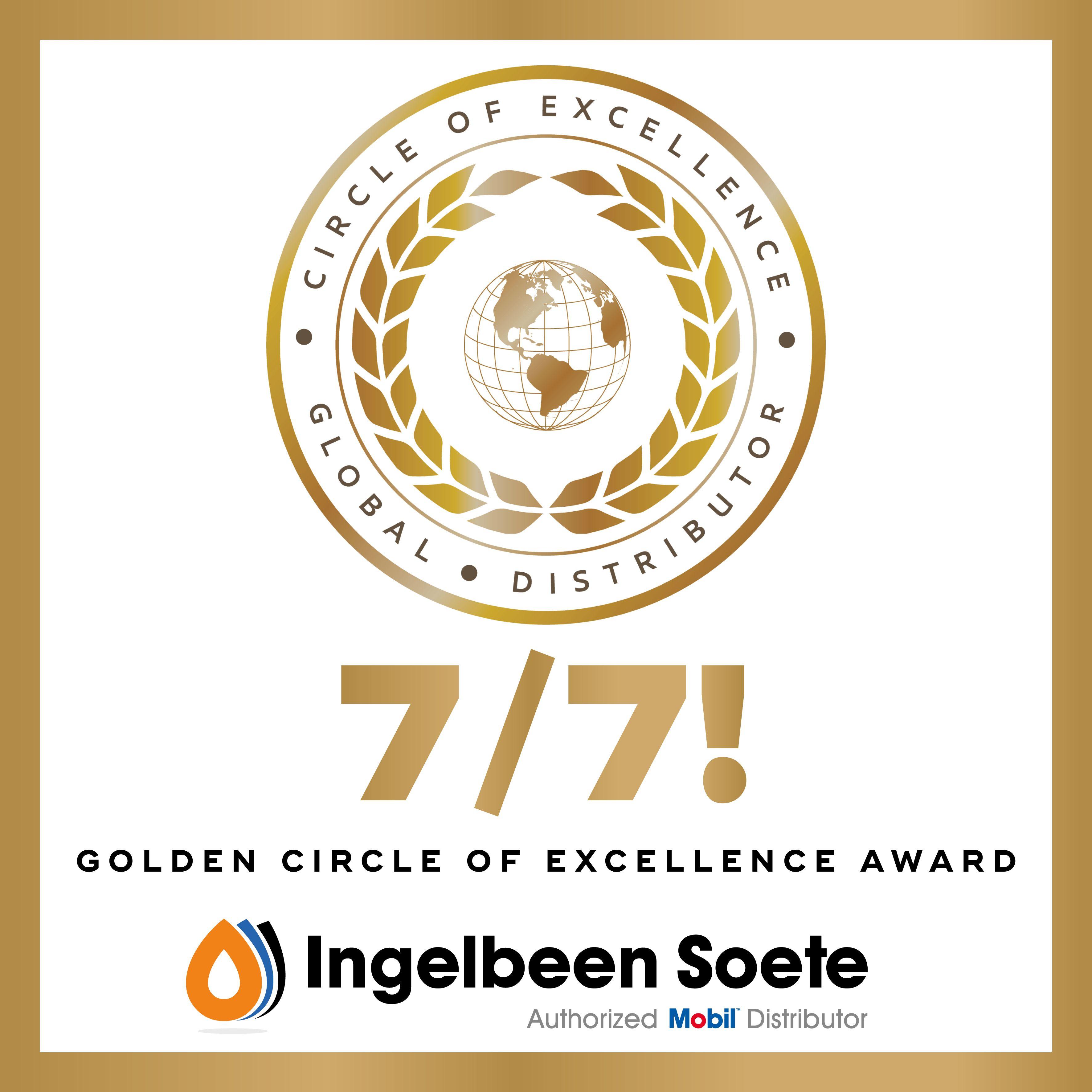 Zeven op zeven met onze gouden ExxonMobil Circle of Excellence Award!