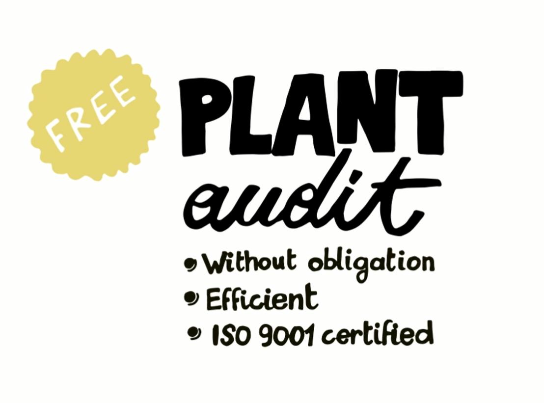 Vraag uw gratis plant audit aan!